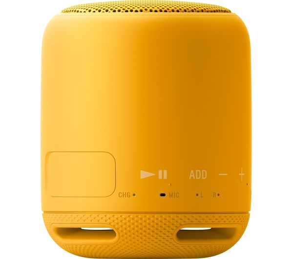 buy sony srs xb10 portable bluetooth wireless speaker yellow free delivery currys. Black Bedroom Furniture Sets. Home Design Ideas