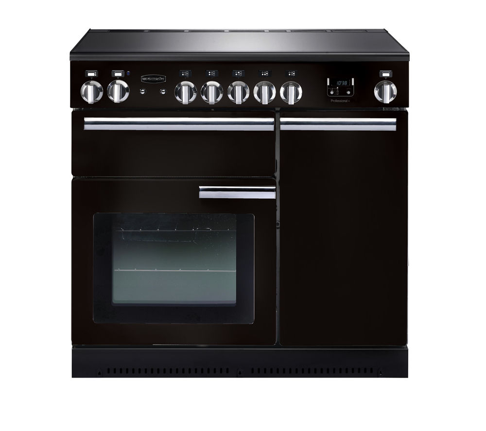 RANGEMASTER  Professional 90 Electric Induction Range Cooker  Black & Chrome Black