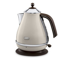 DELONGHI Icona Vintage KBOV3001BG Jug Kettle - Cream