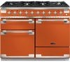 RANGEMASTER Elise 110 Dual Fuel Range Cooker - Orange & Chrome