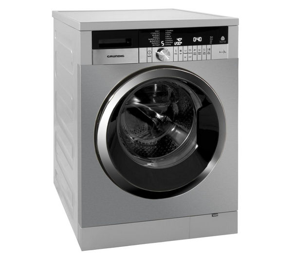 Buy GRUNDIG GWN48430C Washing Machine - Stainless Steel ...