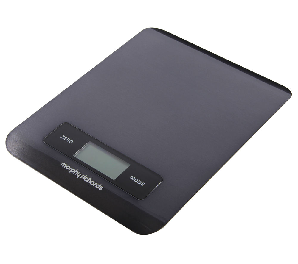 MORPHY RICHARDS  Accents Digital Kitchen Scales  Black Black