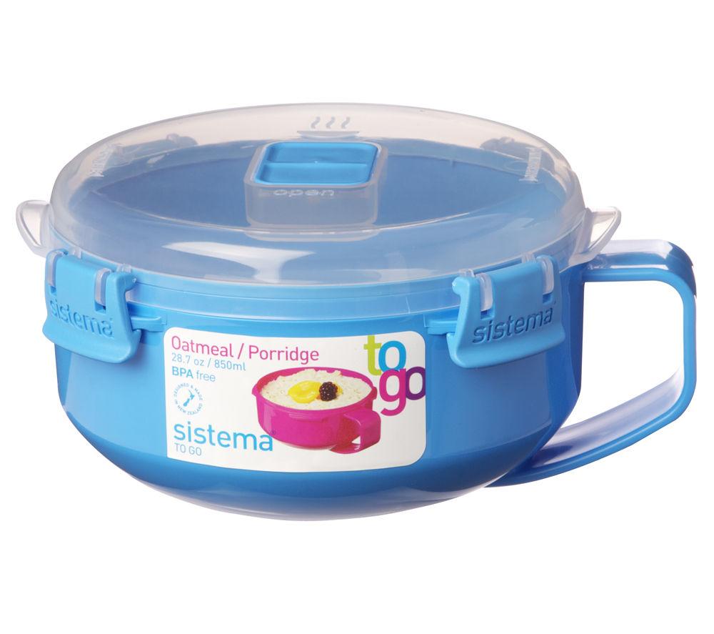 SISTEMA Oatmeal/Porridge To Go Round 0.85-litre Box