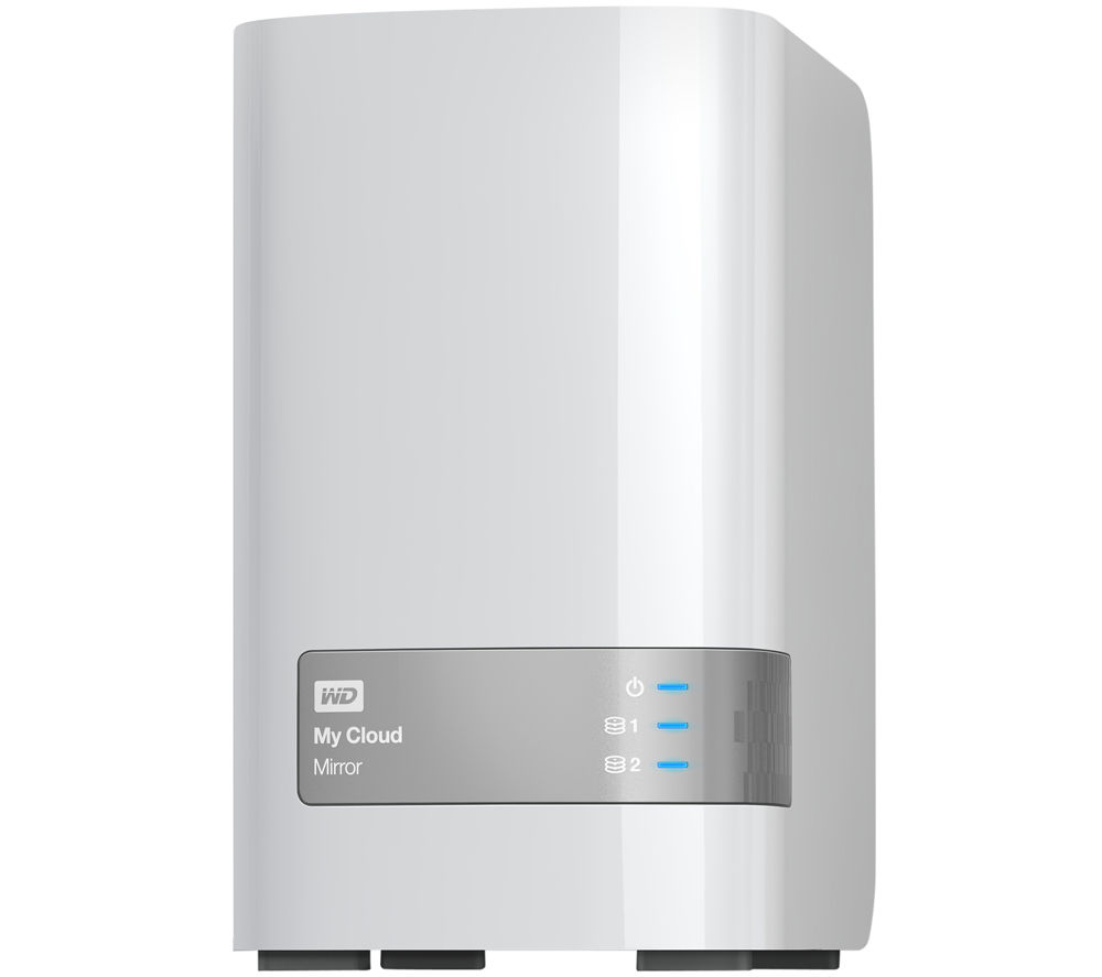 WD My Cloud Mirror Personal Cloud Storage, 8TB Dual Bay NAS