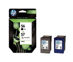 HP 56/57 Tri-colour & Black Ink Cartridges - Twin Pack