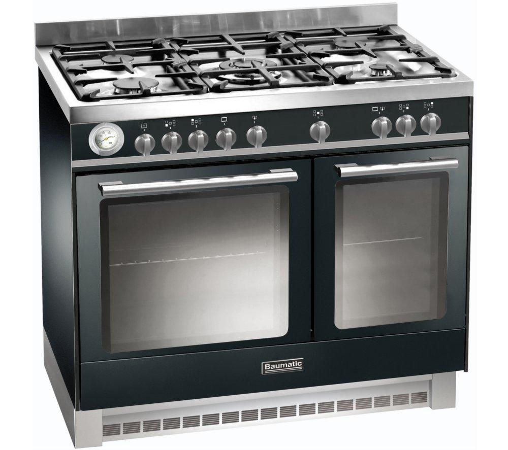 Image of BAUMATIC BCD925BL Dual Fuel Range Cooker - Black, Black