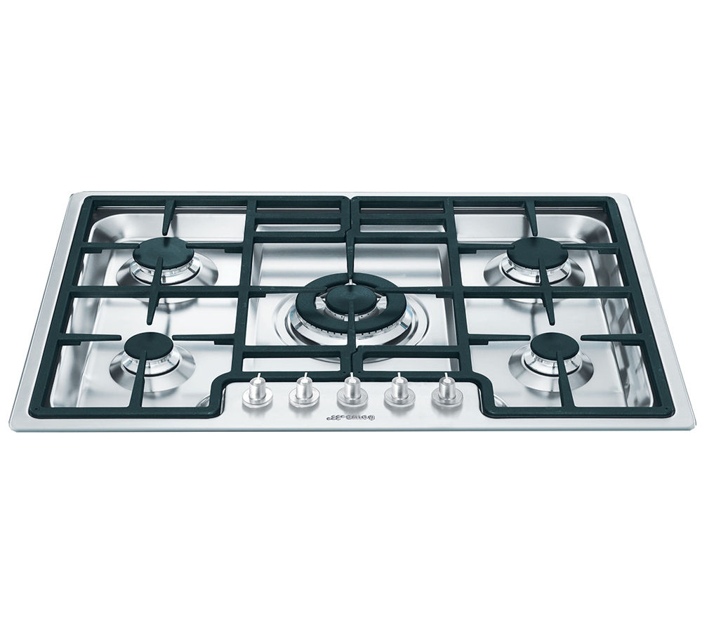 Buy smeg classic pgf75 4 gas hob stainless steel free - Table de cuisson 90 cm ...