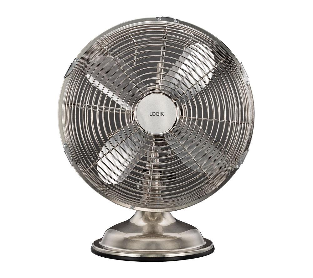 buy logik l10dfss15 10 desk fan brushed steel free