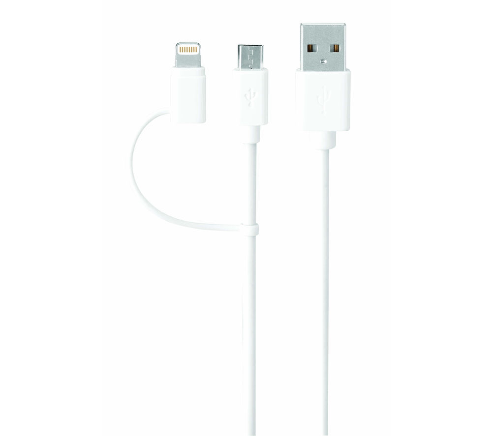 IWANTIT USB to Micro USB & Lightning Cable - 1.8 m