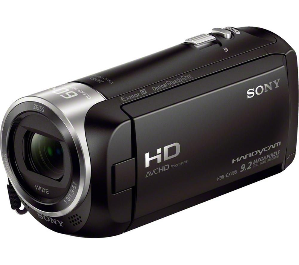 SONY Handycam HDR-CX405 Full HD Camcorder - Black + Adventura SH110 ll Camcorder Case - Black
