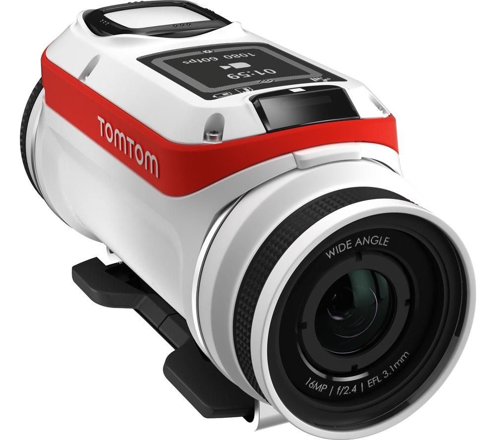 TOMTOM Bandit Action Camcorder - White & Red