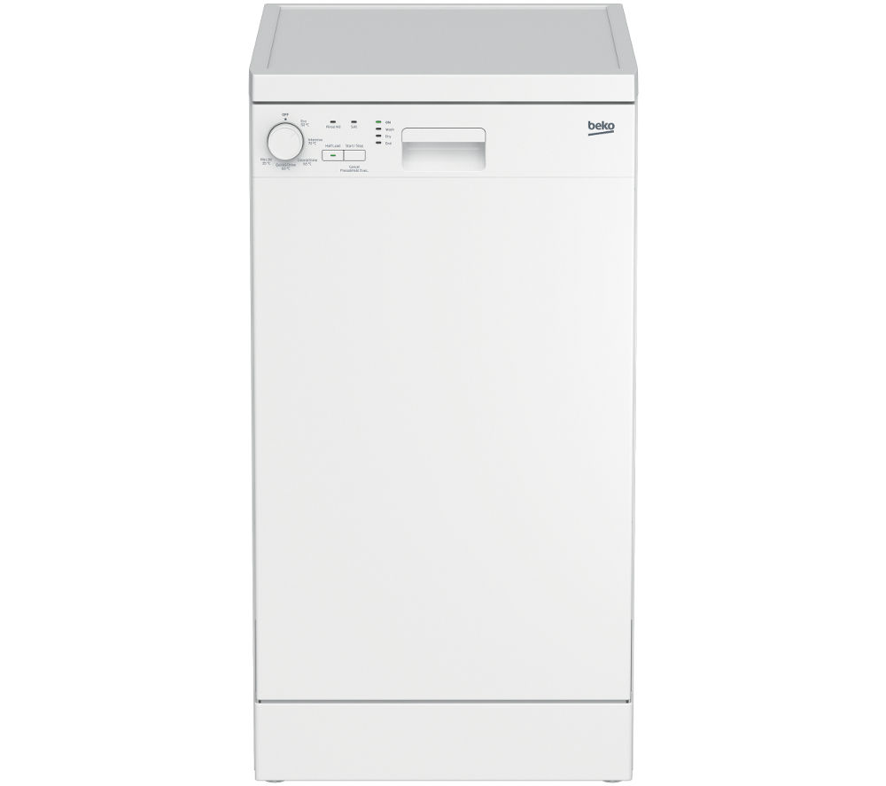 BEKO  DFS05X10W Slimline Dishwasher - White +  WM62125W Washing Machine - White