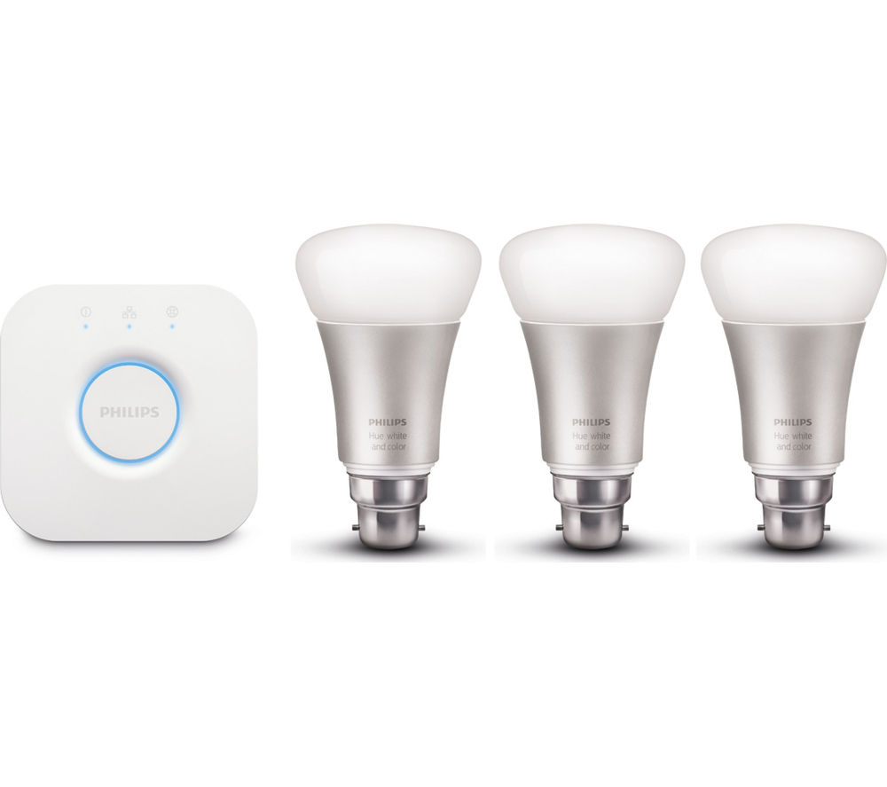 Buy PHILIPS Hue Wireless Bulbs Starter Kit - B22 | Free Delivery | Currys
