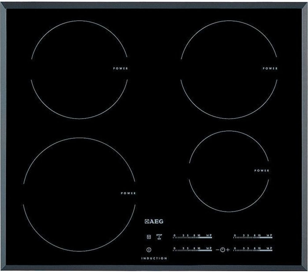AEG  OptiHeat HK654200FB Electric Induction Hob  Black Black