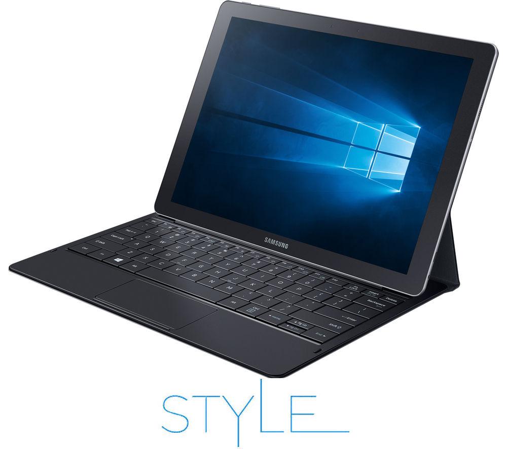 SAMSUNG Galaxy TabPro S & Keyboard - 128 GB, Black + Office 365 Personal + LiveSafe Unlimited 2017 - 1 year