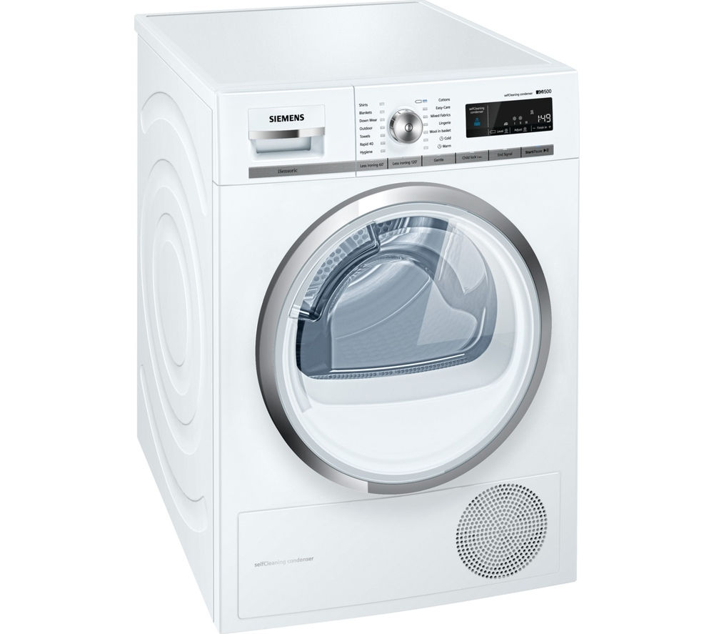 SIEMENS  iQ500 WT47W590GB Condenser Tumble Dryer  White White