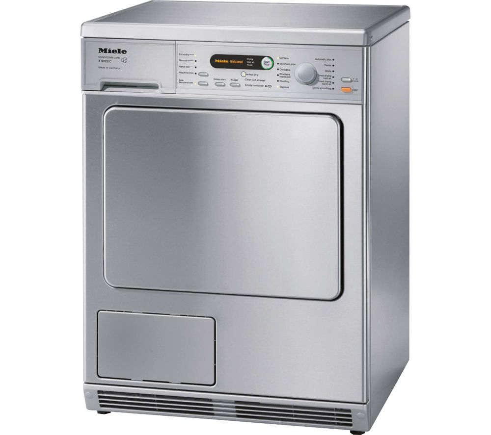 Image of MIELE T 8828 Condenser Tumble Dryer - Stainless Steel, Stainless Steel