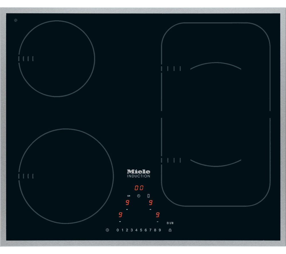 buy miele km6322 electric induction hob black free. Black Bedroom Furniture Sets. Home Design Ideas