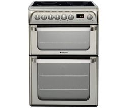 HOTPOINT HUI611 X 60 cm Electric Ceramic Cooker - Stainless Steel