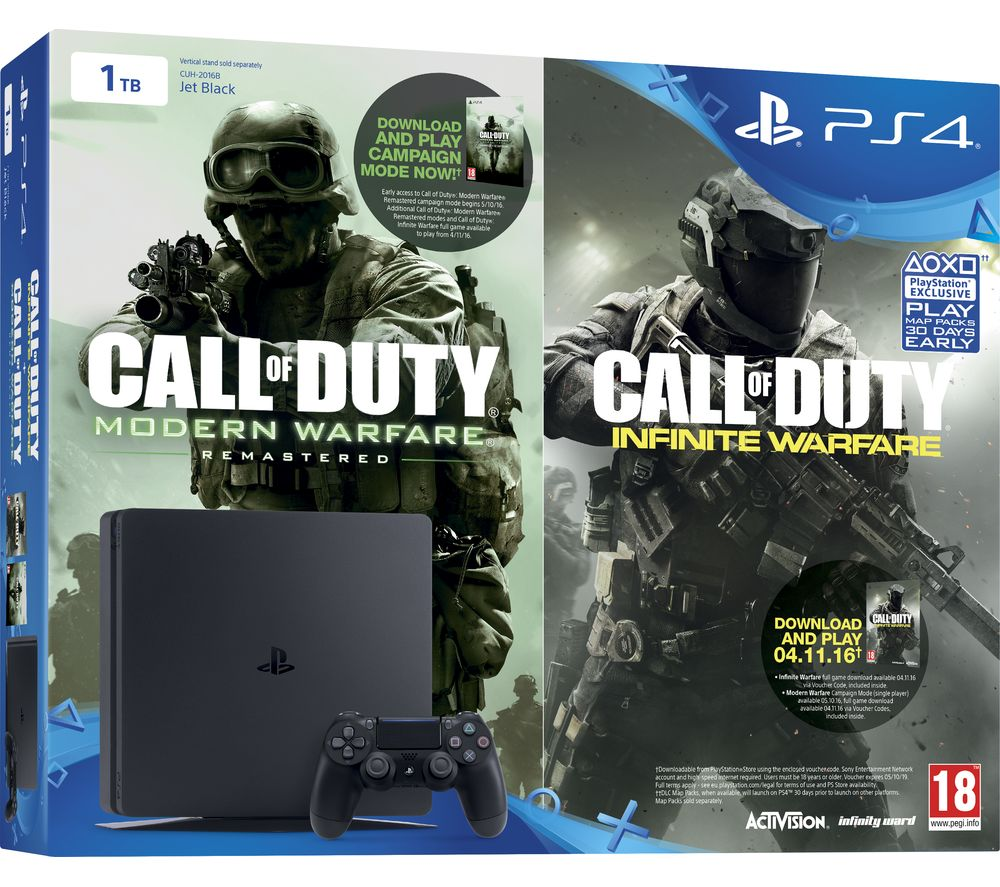 PLAYSTATION 4  Slim & Call of Duty Infinite Warfare  1 TB