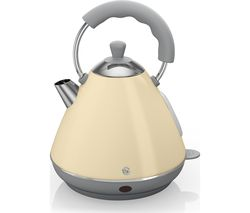 SWAN Pyramid SK261030CN Traditional Kettle - Cream