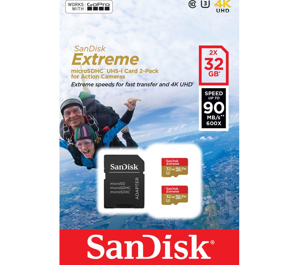 SANDISK Extreme Class 10 MicroSD Memory Card