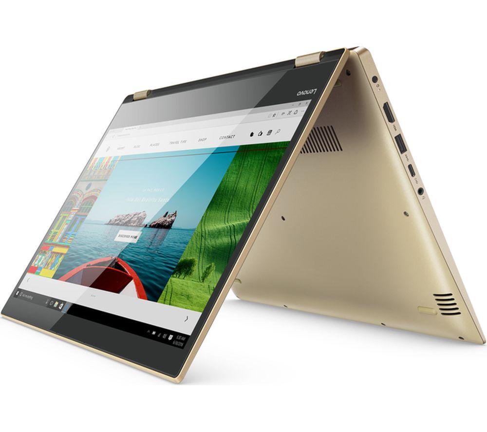 "lenovo yoga 520-14ikb 14"" touchscreen 2 in 1 - gold metallic +"