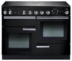 RANGEMASTER Professional+ 110 Electric Induction Range Cooker - Black & Chrome