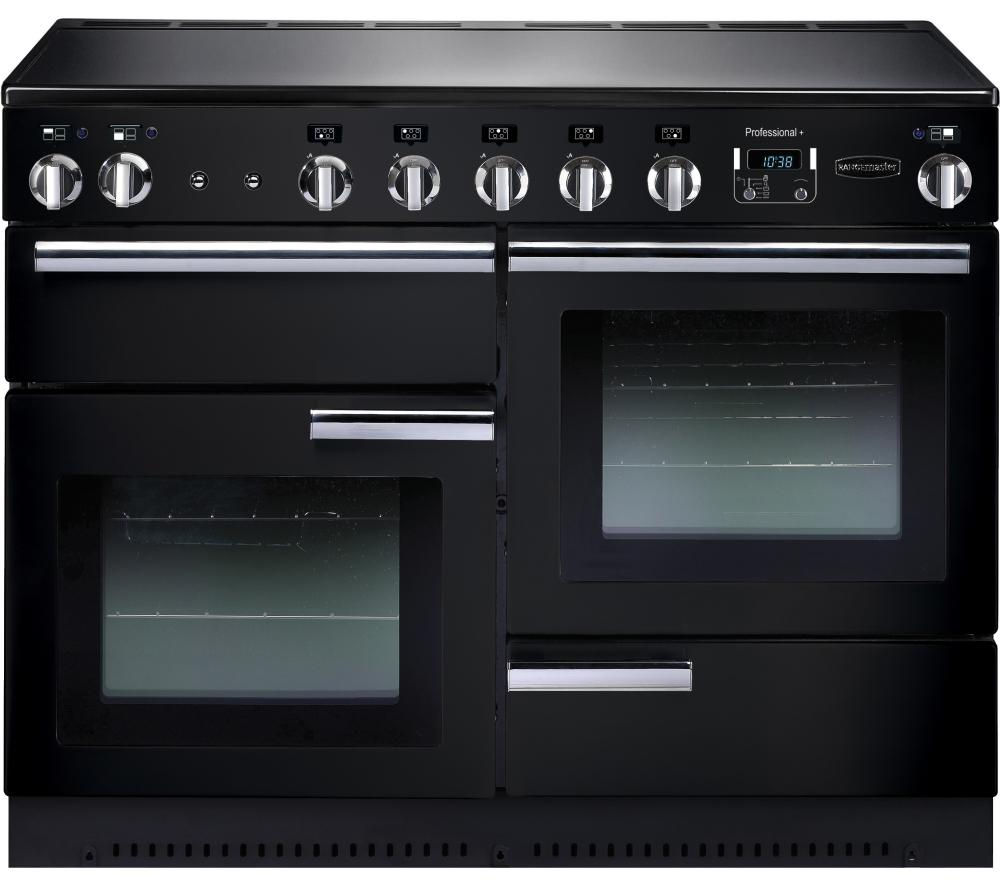 RANGEMASTER  Professional 110 Electric Induction Range Cooker  Black & Chrome Black