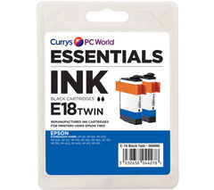 ESSENTIALS Black Epson Ink Cartridges - Twin Pack