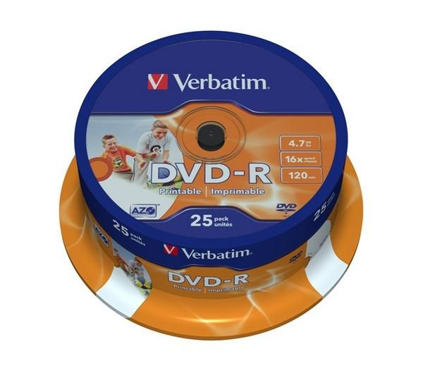 VERBATIM 16x DVD+R Blank DVDs - Pack of 25