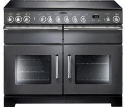 RANGEMASTER Excel 110 Electric Ceramic Range Cooker - Slate & Chrome