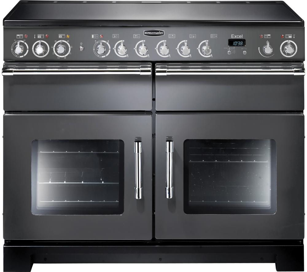 RANGEMASTER Excel 110 Electric Ceramic Range Cooker - Slate & Chrome