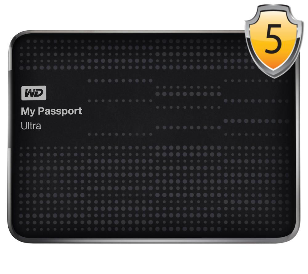 wd my passport ultra exclusive portable external hard drive 2 tb black. Black Bedroom Furniture Sets. Home Design Ideas