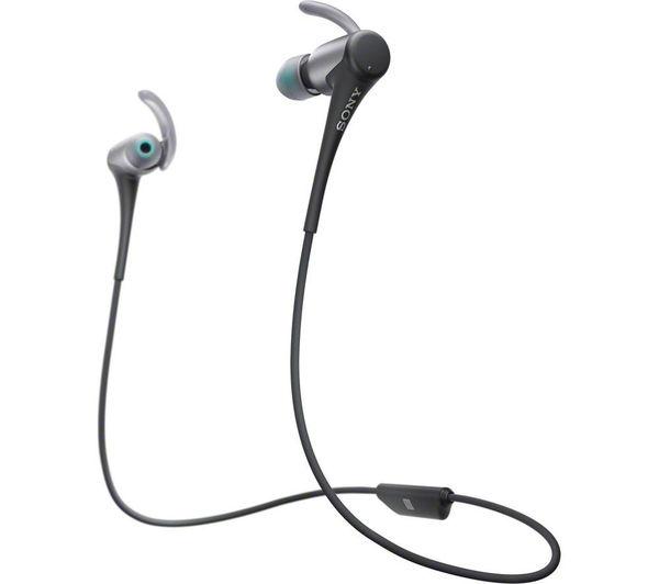 sony mdr as800btb wireless bluetooth headphones black. Black Bedroom Furniture Sets. Home Design Ideas