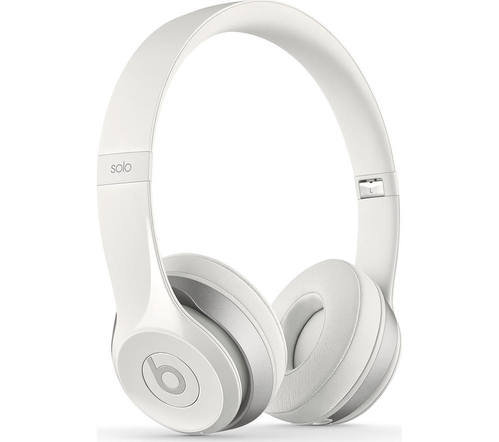 buy beats by dr dre solo 2 wireless bluetooth headphones white free delivery currys. Black Bedroom Furniture Sets. Home Design Ideas