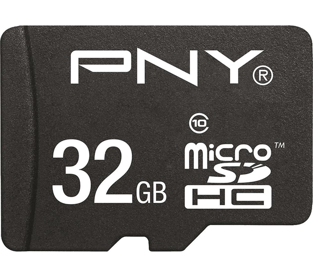 Pny Standard Performance Class 10 microSD Memory Card  32 GB