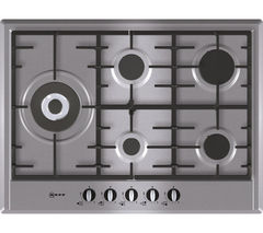 NEFF T25S76N0 Gas Hob - Stainless Steel