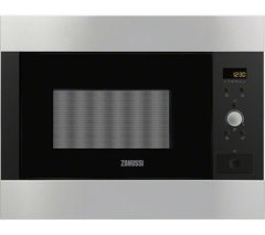 ZANUSSI ZBM26542XA Built-in Solo Microwave - Black & Stainless Steel