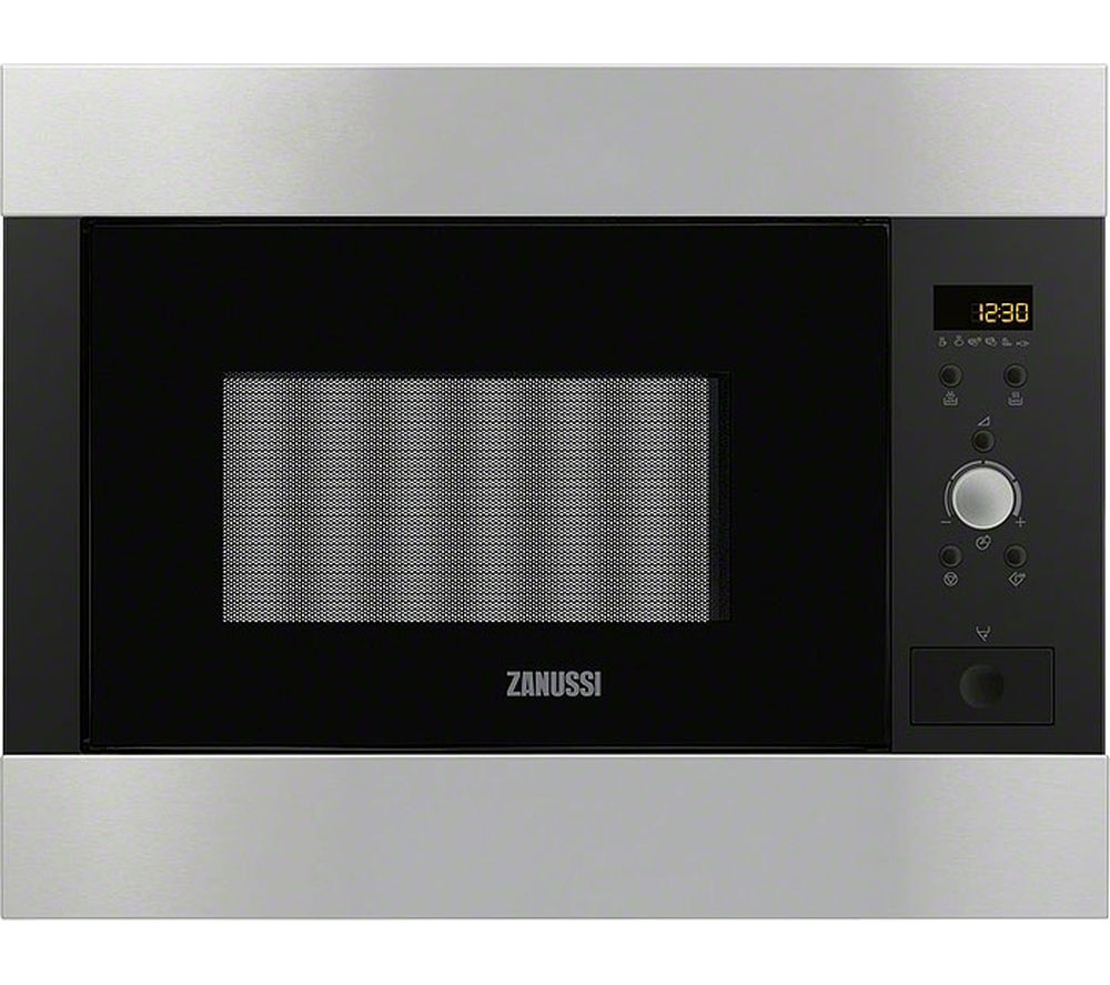 ZANUSSI ZBM26542XA Built-in Solo Microwave - Black & Stainless Steel