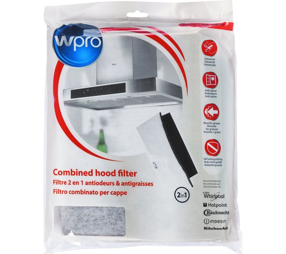 WPRO UCF016 Universal Grease & Carbon Filter  for Cooker Hoods