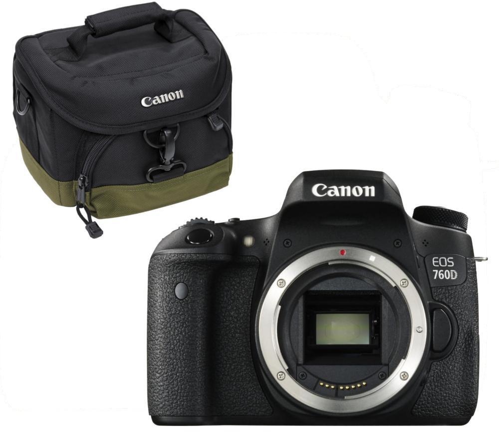 CAN CANON  EOS 760D DSLR Camera & Camera Bag Bundle