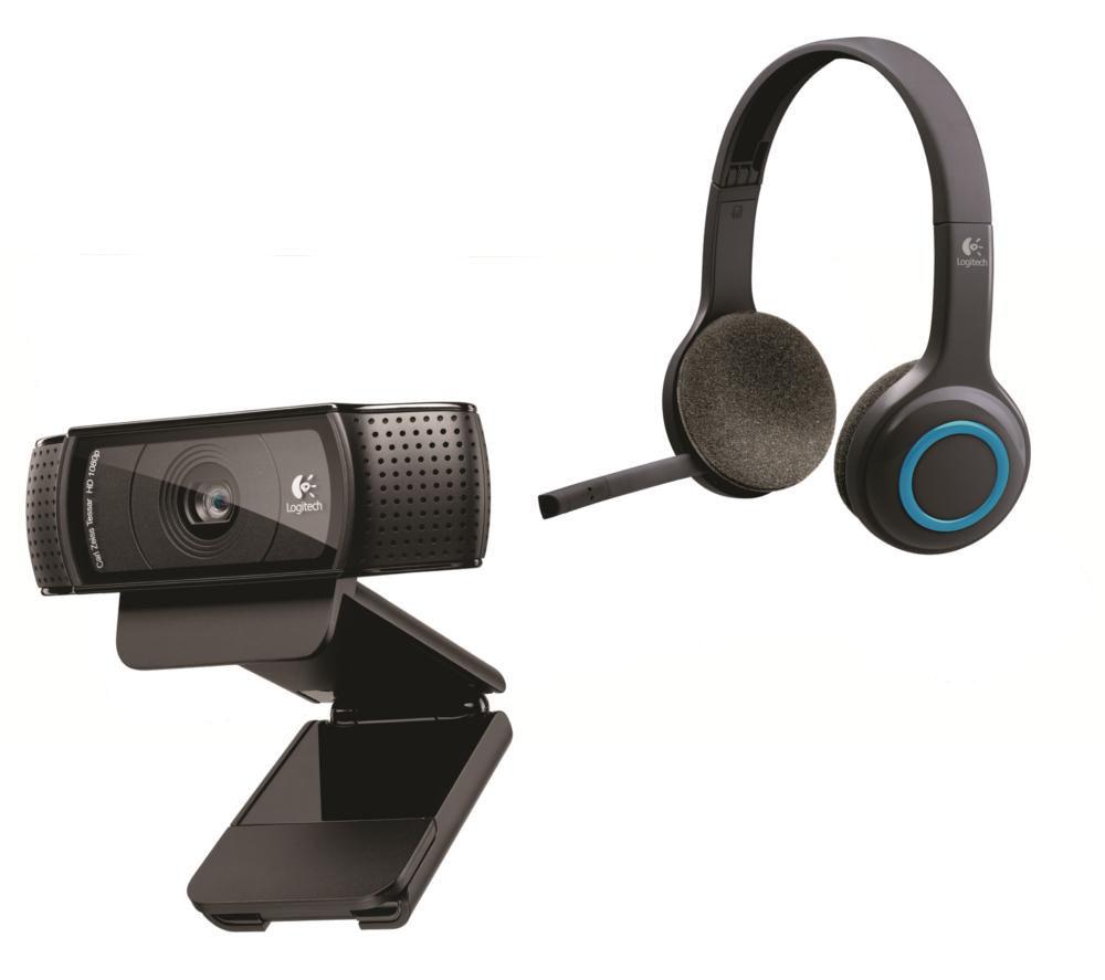 Image of Logitech Wireless Headset & Full HD Webcam Bundle