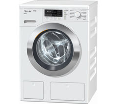 MIELE WKG120 Washing Machine - White & Chrome
