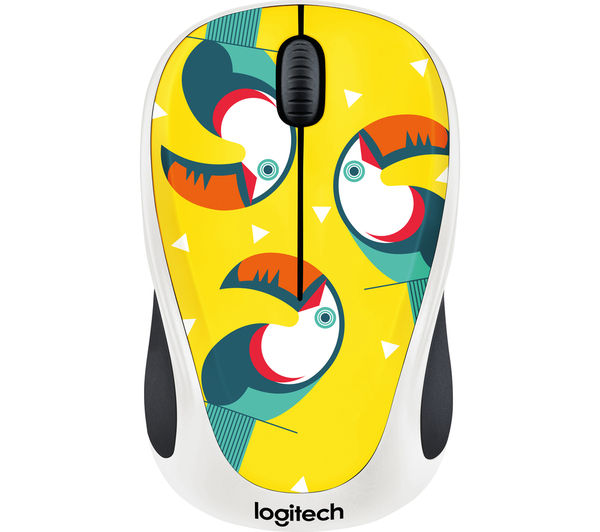 Image of LOGITECH Toucan M238 Wireless Optical Touch Mouse - Yellow & White
