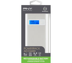 PNY ALU DIGITAL AD10400 Portable Power Bank - Silver