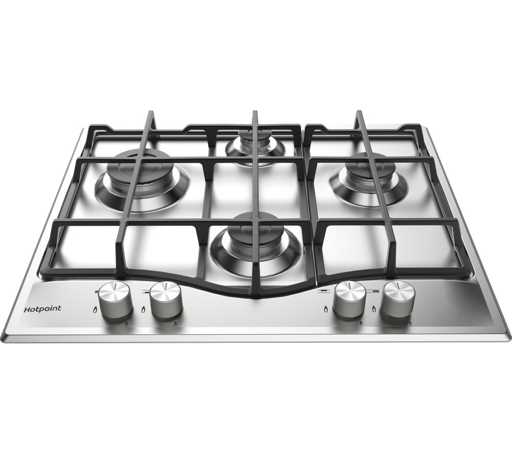 HOTPOINT  PCN 641 IXH Gas Hob  Stainless Steel Stainless Steel