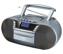JVC RC-D327B DAB/FM Bluetooth Boombox - Grey
