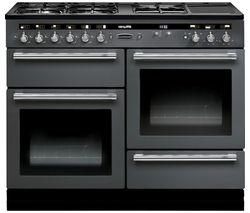 RANGEMASTER Hi-Lite 110 Dual Fuel Range Cooker - Slate & Chrome