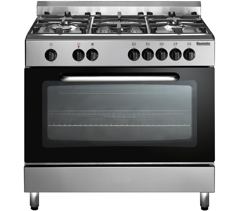 BAUMATIC  BC391.3TCSS Dual Fuel Range Cooker  Stainless Steel Stainless Steel